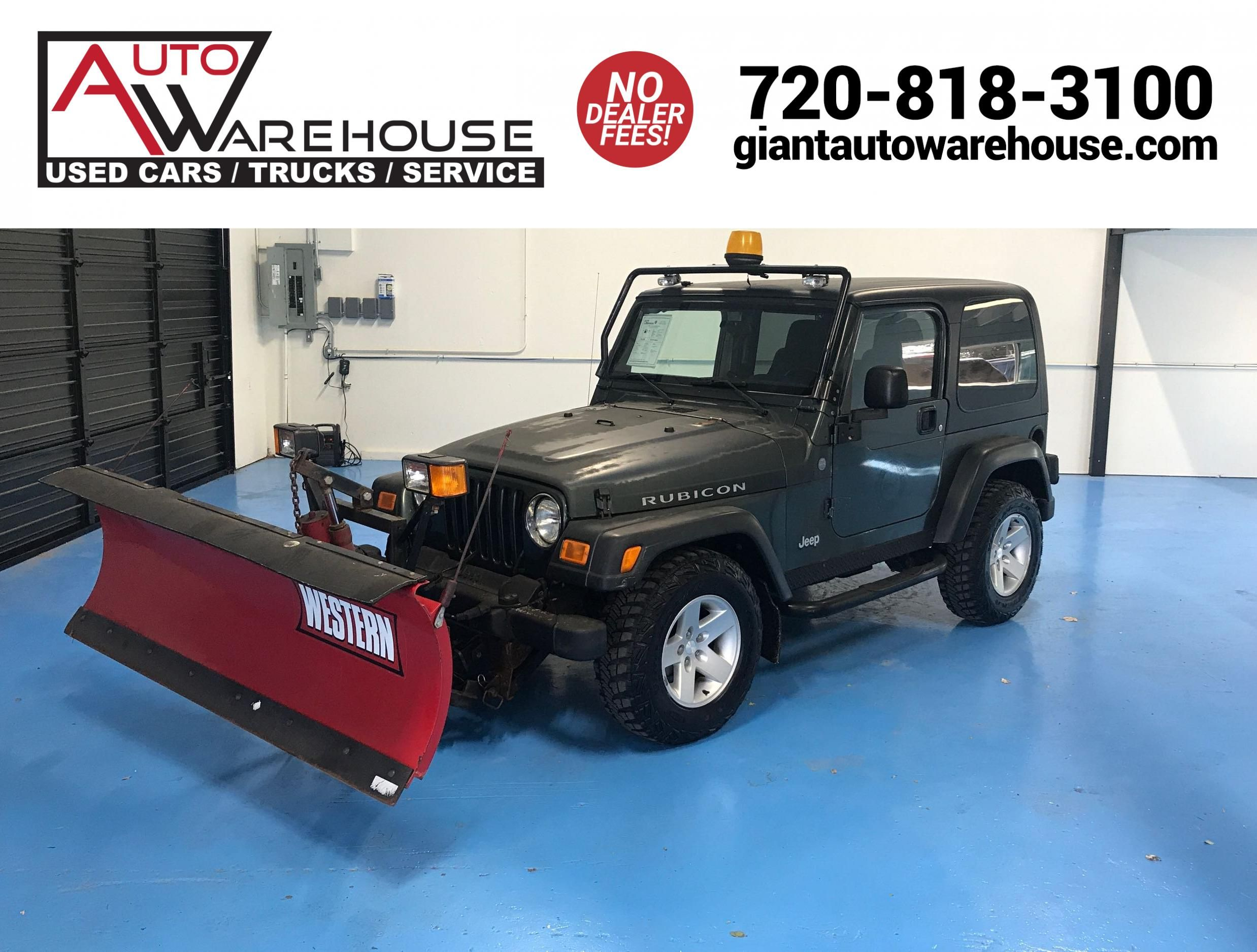 2004 Jeep Wrangler Rubicon. With Snow Plow!