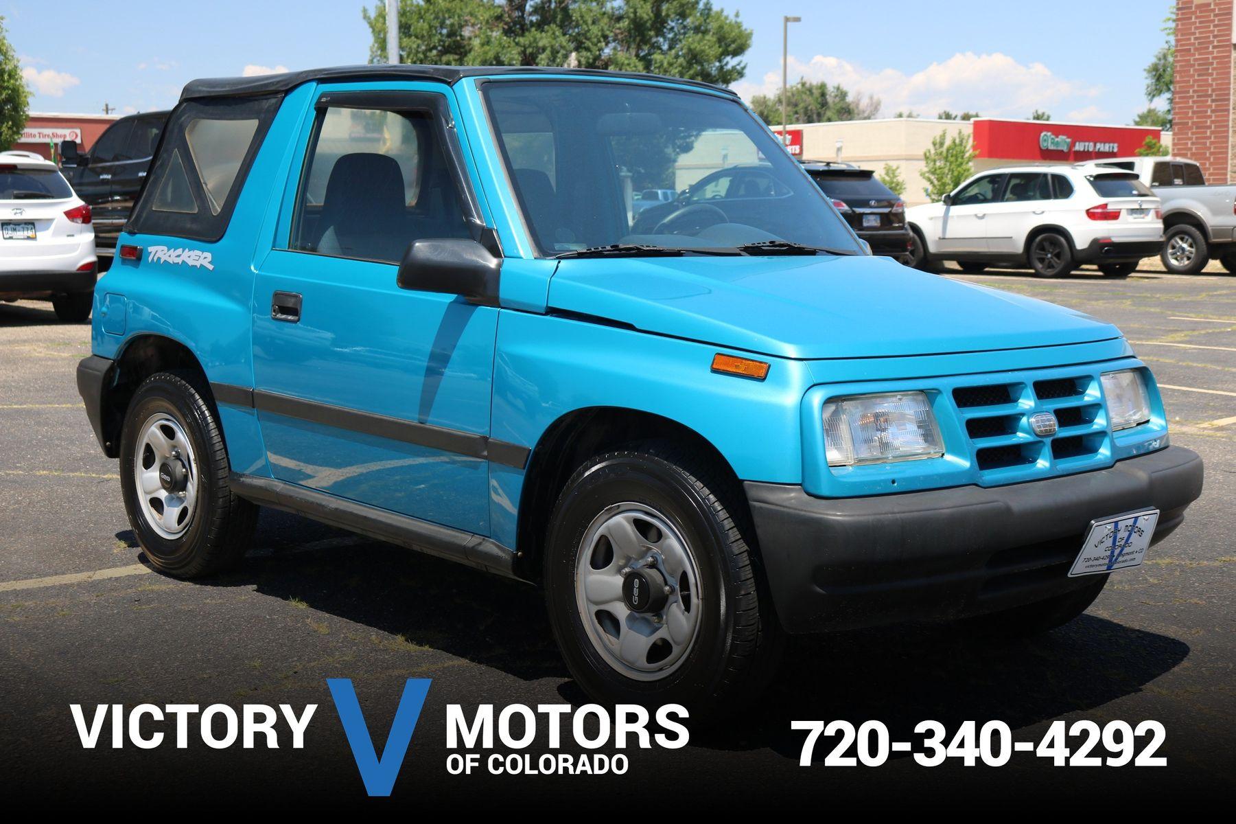 1997 geo tracker soft top victory motors of colorado for Victory motors trucks longmont