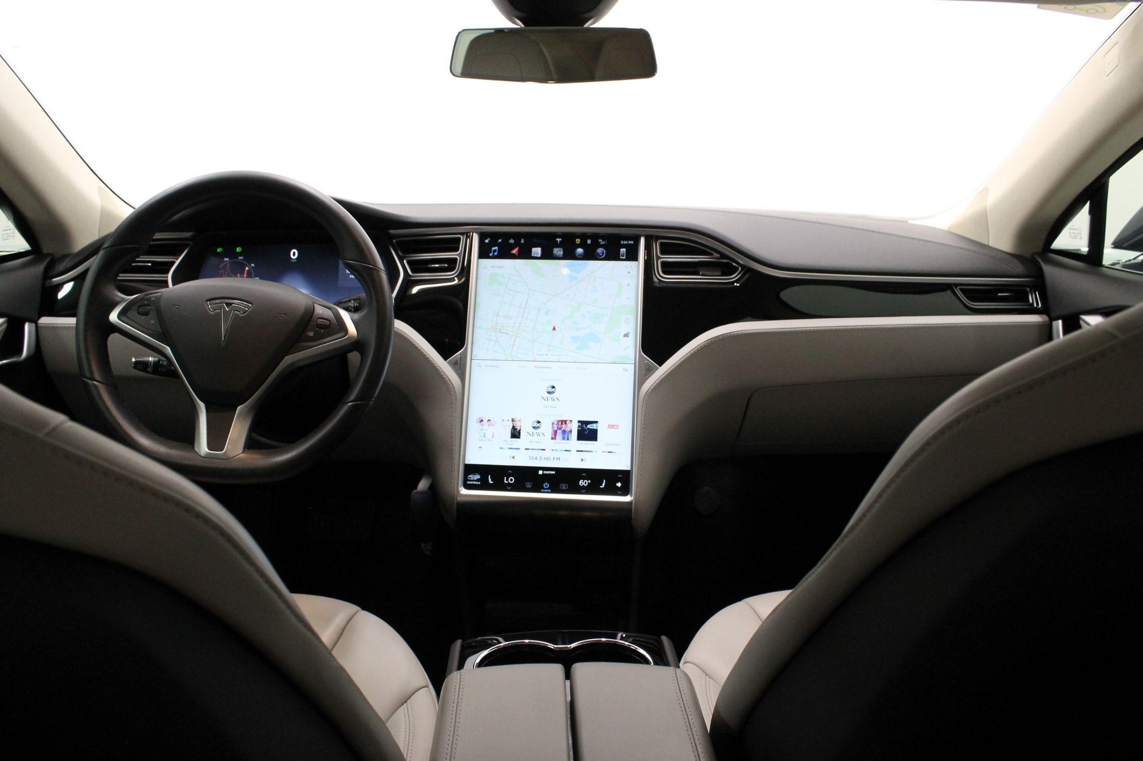 tesla manual seat and steering adjustment
