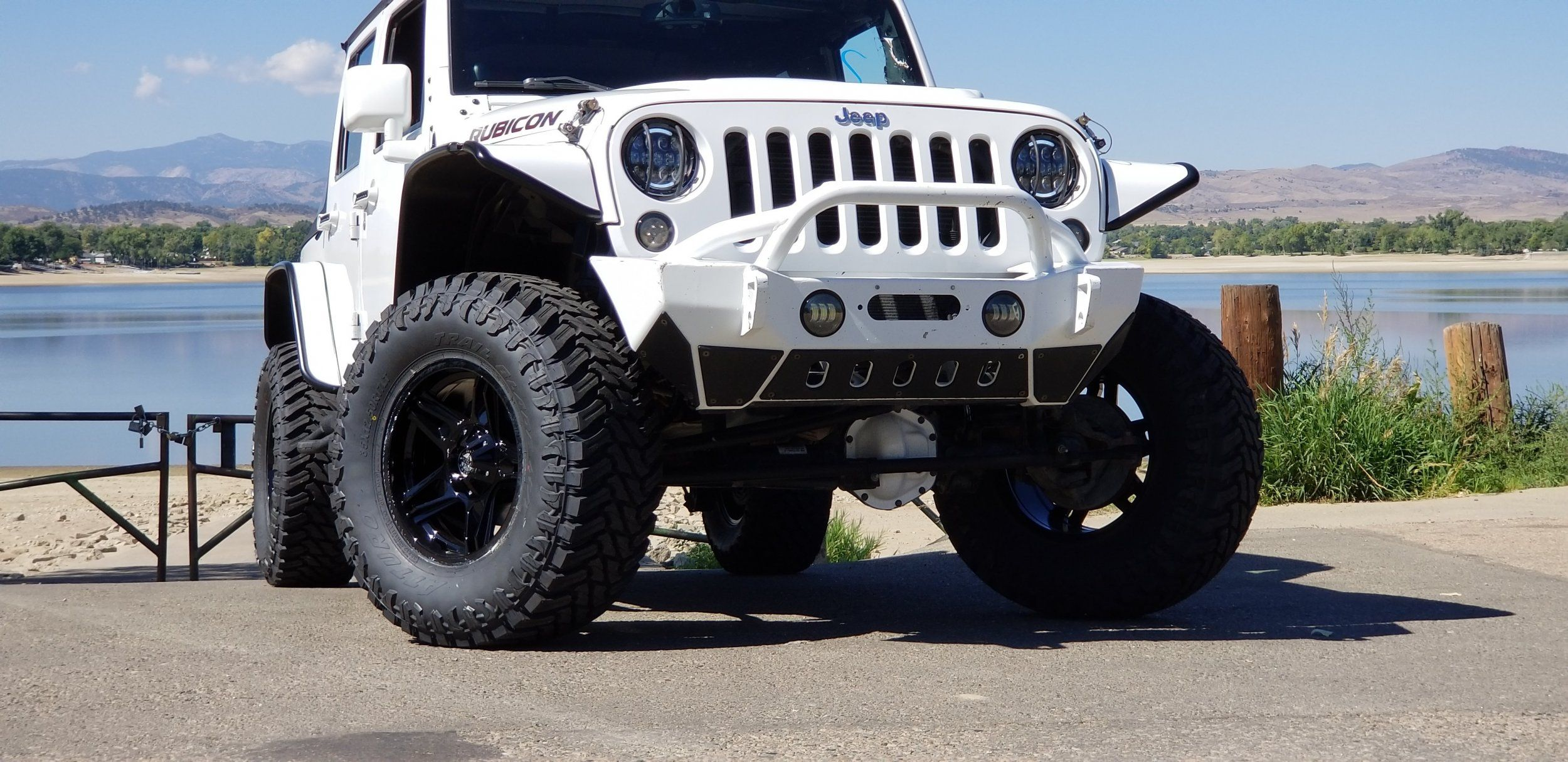 2013 Jeep Wrangler Unlimited Rubicon Auto Integrity White Sahara Lifted With Tire Carrier And Led Tail Lights New 35 Inch Tires Fox Shocks Red Diamond Cut Leather Seats Many More Upg