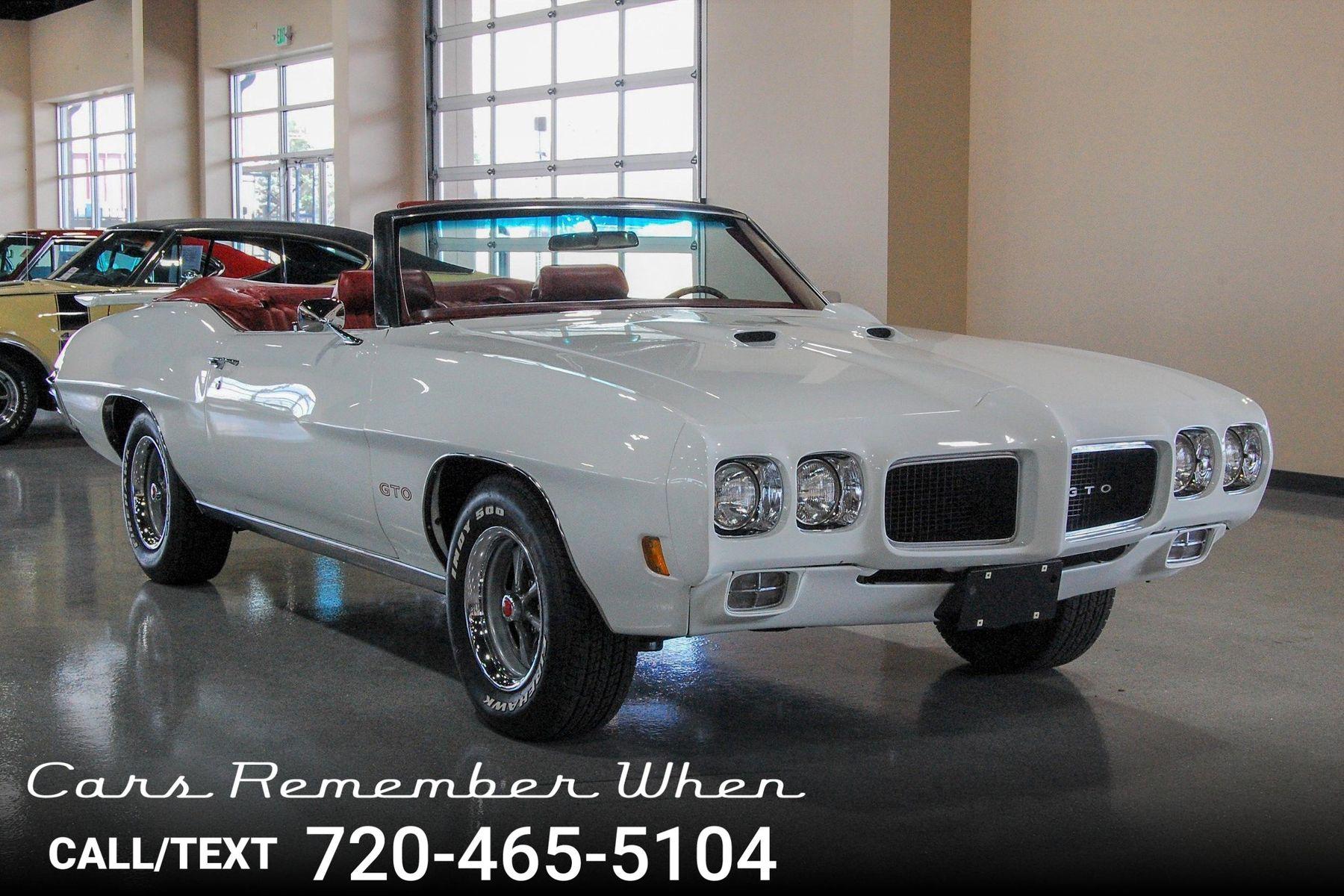 1970 Pontiac GTO Convertible | Cars Remember When