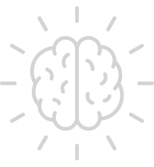 Icon of Brain with Star Bursts representing the About ClearShift Page